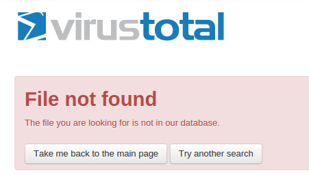 virustotal-notfound